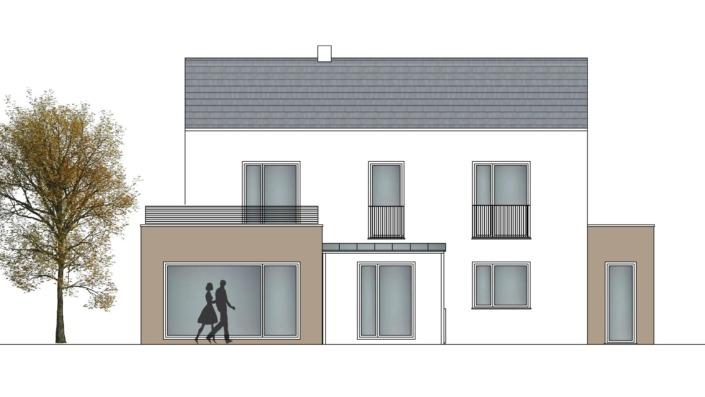 Einfamilienhaus mit 167 qm, Ansicht Süd