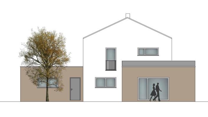 Einfamilienhaus mit 167 qm, Ansicht West