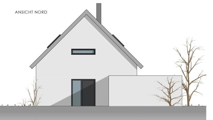 Einfamilienhaus mit 169 qm, Ansicht Nord