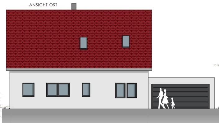 Einfamilienhaus mit 169 qm, Ansicht Ost