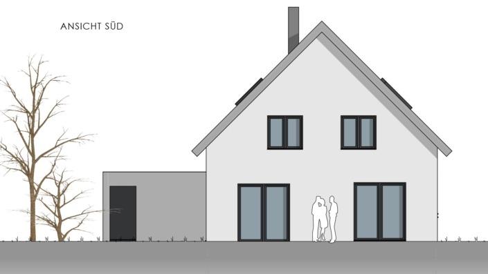 Einfamilienhaus mit 169 qm, Ansicht Süd