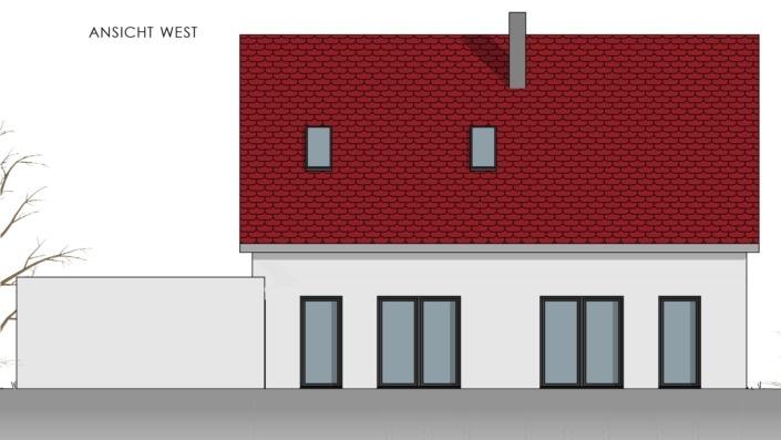 Einfamilienhaus mit 169 qm, Ansicht West