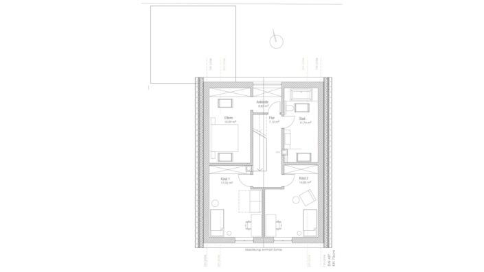 Einfamilienhaus mit 169 qm, Grundriss OG