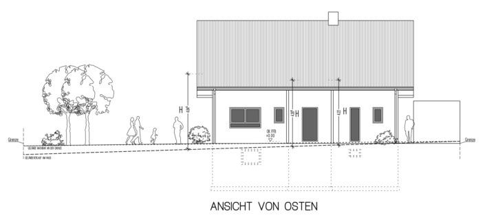 Einfamilienhaus mit 171 qm, Ansicht Ost