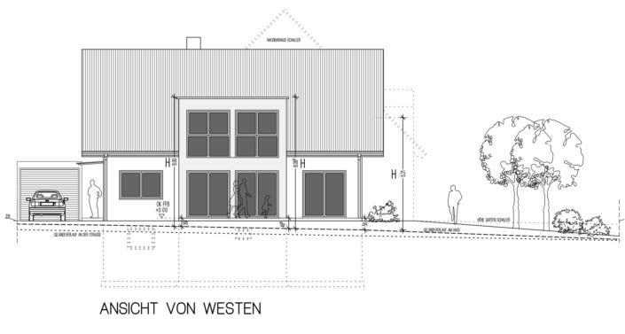Einfamilienhaus mit 171 qm, Ansicht West