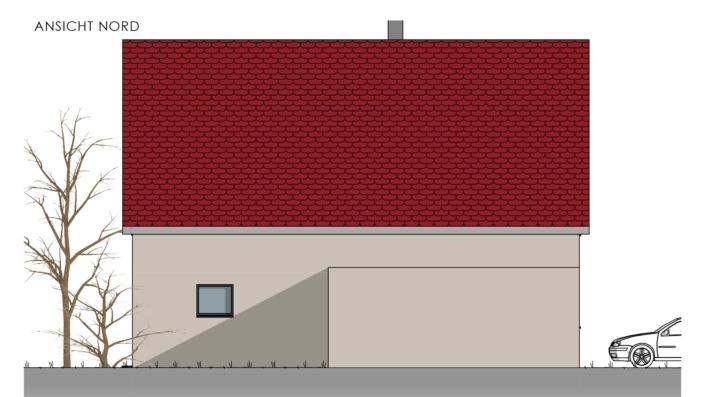 Einfamilienhaus mit 178 qm, Ansicht Nord