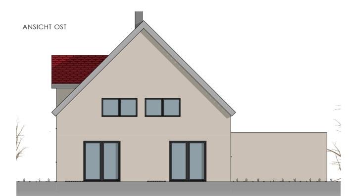 Einfamilienhaus mit 178 qm, Ansicht Ost