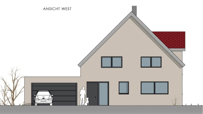 Einfamilienhaus mit 178 qm, Ansicht West