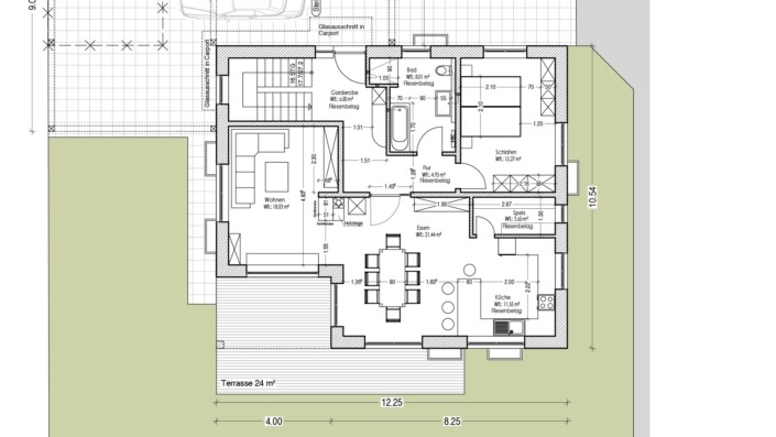 Einfamilienhaus mit 183 qm, Grundriss Erdgeschoss