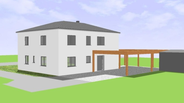 Einfamilienhaus mit 183 qm, Ansicht Nord