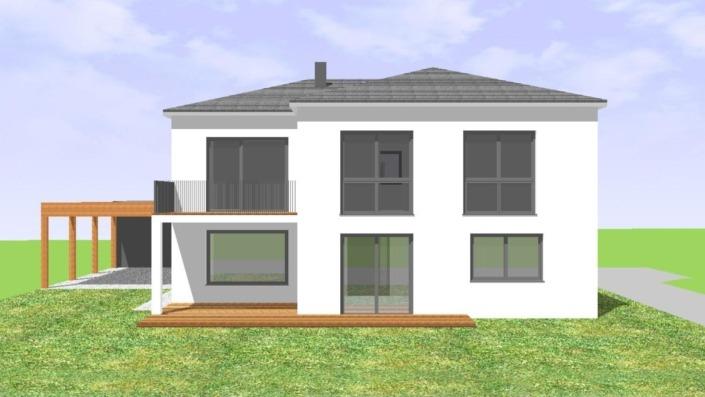 Einfamilienhaus mit 183 qm, Ansicht Süd