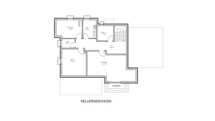 Einfamilienhaus mit 185 qm, Grundriss Keller