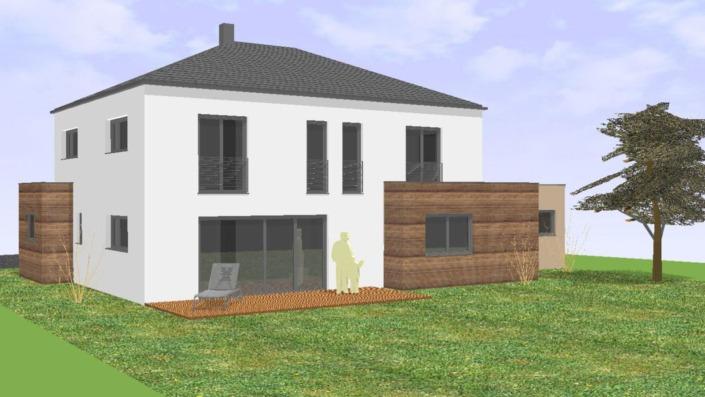 Einfamilienhaus mit 185 qm, Ansicht Süd