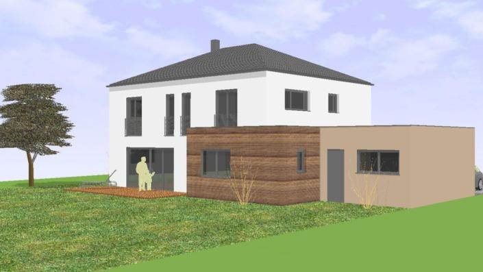 Einfamilienhaus mit 185 qm, Ansicht West