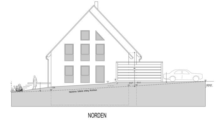 Einfamilienhaus mit 185 qm, Ansicht Nord