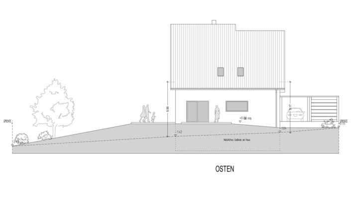 Einfamilienhaus mit 185 qm, Ansicht Ost