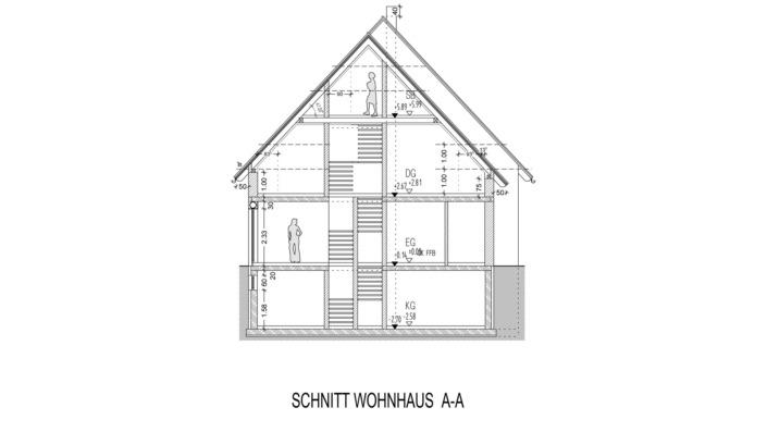 Einfamilienhaus mit 185 qm, Schnitt A
