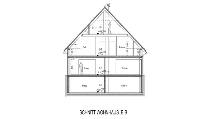 Einfamilienhaus mit 185 qm, Schnitt B