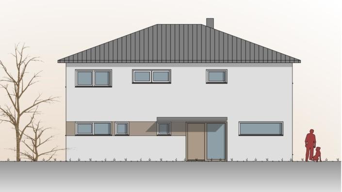 Einfamilienhaus mit 187 qm, Ansicht Nord