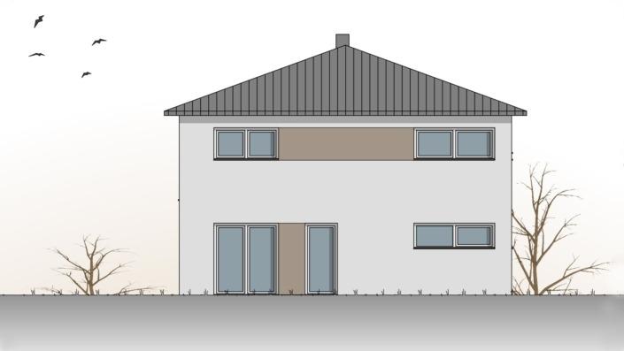 Einfamilienhaus mit 187 qm, Ansicht Ost