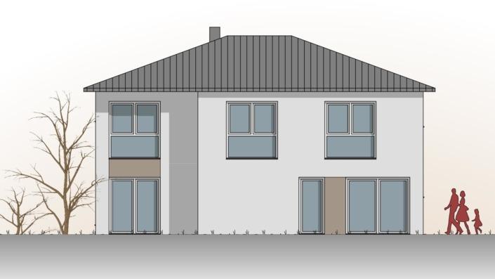 Einfamilienhaus mit 187 qm, Ansicht Süd