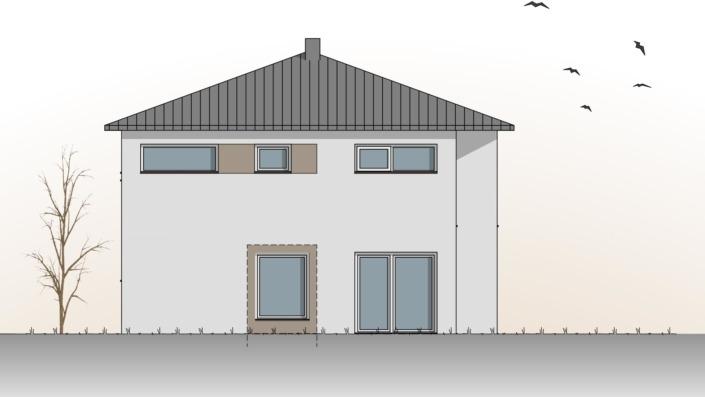 Einfamilienhaus mit 187 qm, Ansicht West