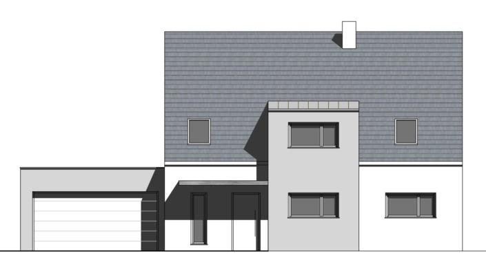 Einfamilienhaus mit 188 qm, Ansicht Nord