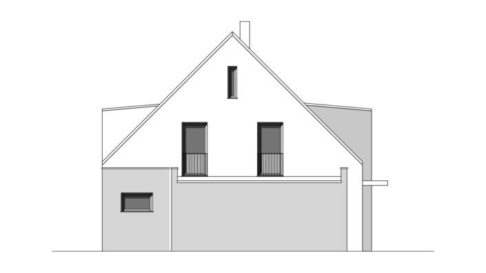 Einfamilienhaus mit 188 qm, Ansicht Ost