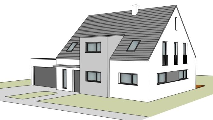 Einfamilienhaus mit 188 qm, Ansicht