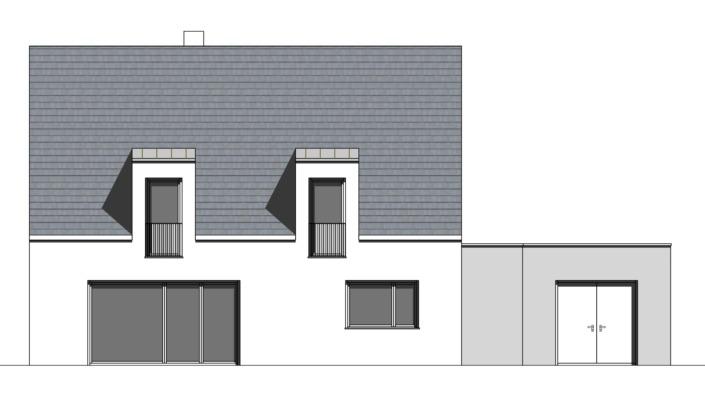 Einfamilienhaus mit 188 qm, Ansicht Süd
