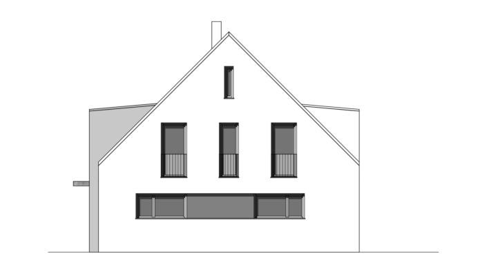 Einfamilienhaus mit 188 qm, Ansicht West