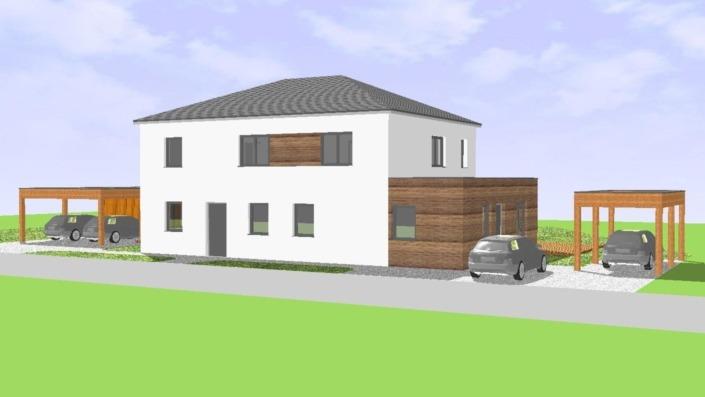 Einfamilienhaus mit Einliegerwohnung, 189 qm, Ansicht Nord