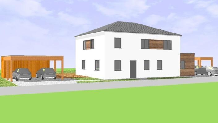 Einfamilienhaus mit Einliegerwohnung, 189 qm, Ansicht Nordost