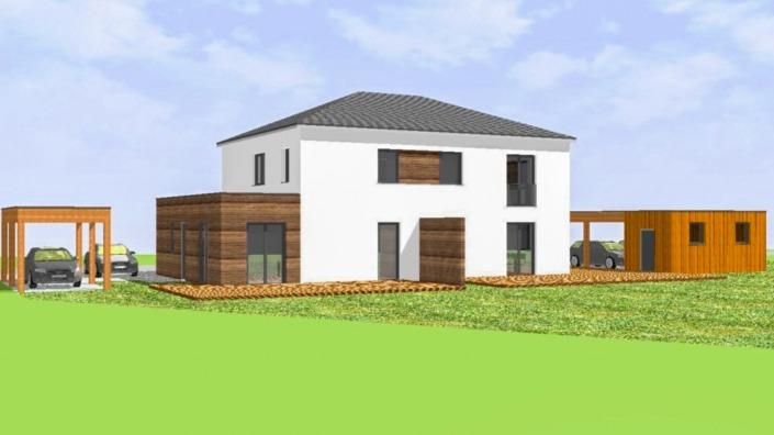 Haus mit Einliegerwohnung, 189 qm, Ansicht Südwest