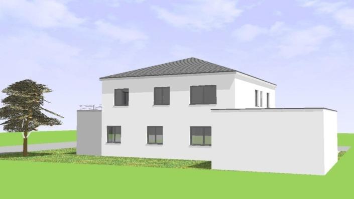 Einfamilienhaus mit Einliegerwohnung, 205 qm, Ansicht Nordost