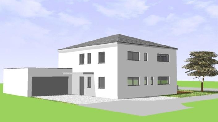 Einfamilienhaus mit Einliegerwohnung, 205 qm, Ansicht Nordwest