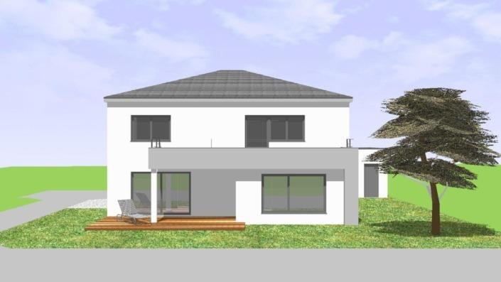 Einfamilienhaus mit Einliegerwohnung, 205 qm, Ansicht Süd