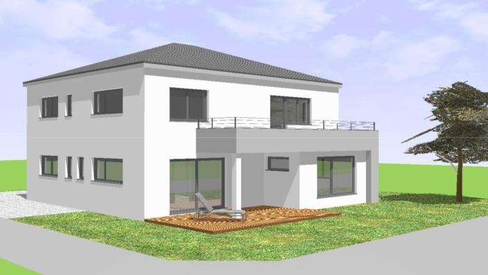 Einfamilienhaus mit Einliegerwohnung, 205 qm, Ansicht Südwest