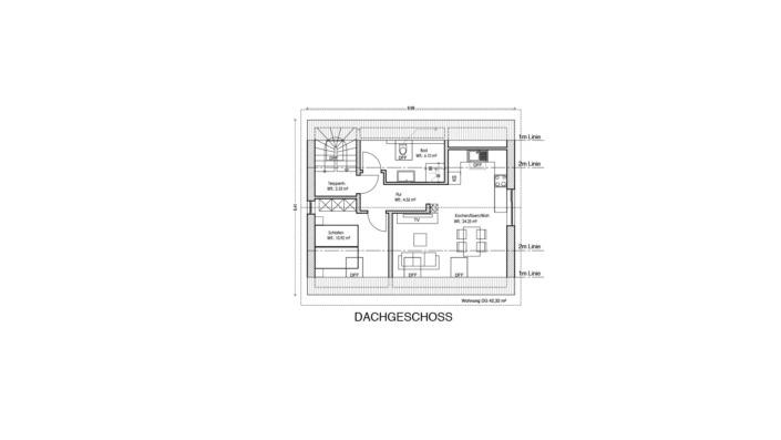 Einfamilienhaus mit 170 qm, Grundriss Dachgeschoss