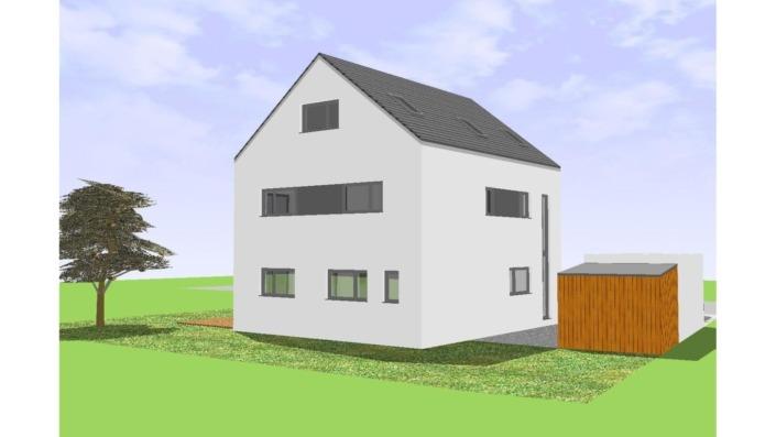 Einfamilienhaus mit 170 qm, Ansicht Nord