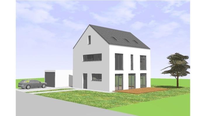 Einfamilienhaus mit 170 qm, Ansicht Süd
