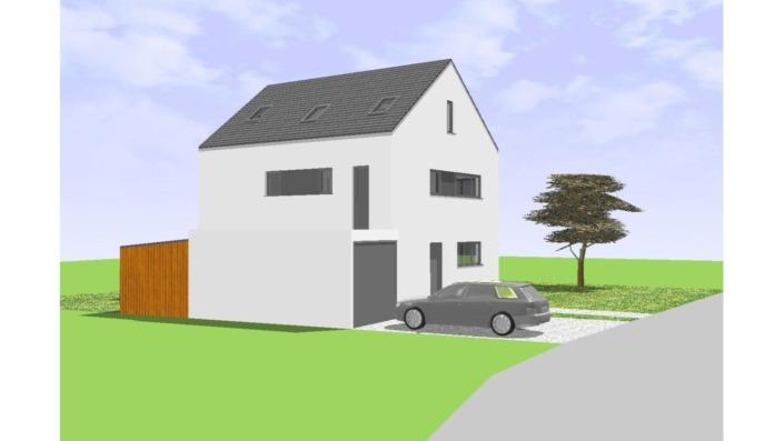 Einfamilienhaus mit 170 qm, Ansicht West