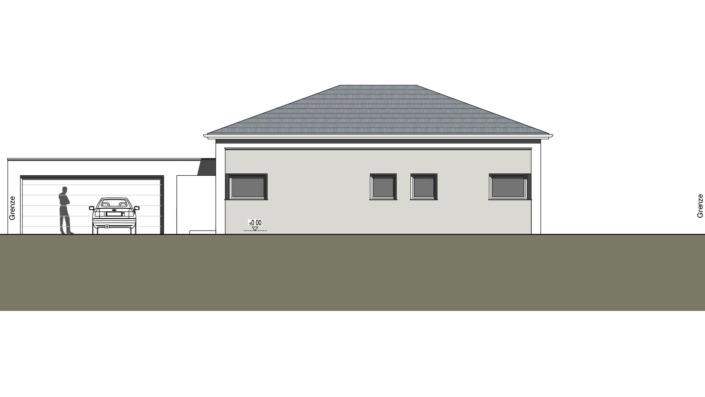 Einfamilienhaus mit 127 qm ohne Keller, Ansicht Nord