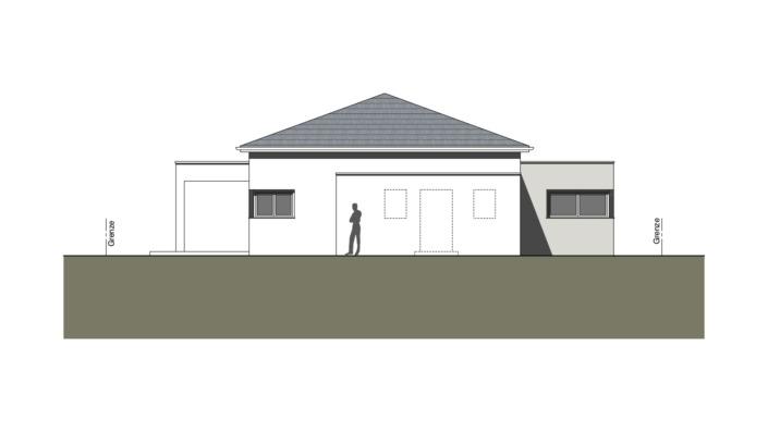 Einfamilienhaus mit 127 qm ohne Keller, Ansicht Ost