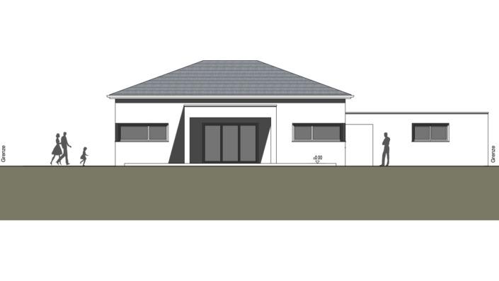 Einfamilienhaus mit 127 qm ohne Keller, Ansicht Süd