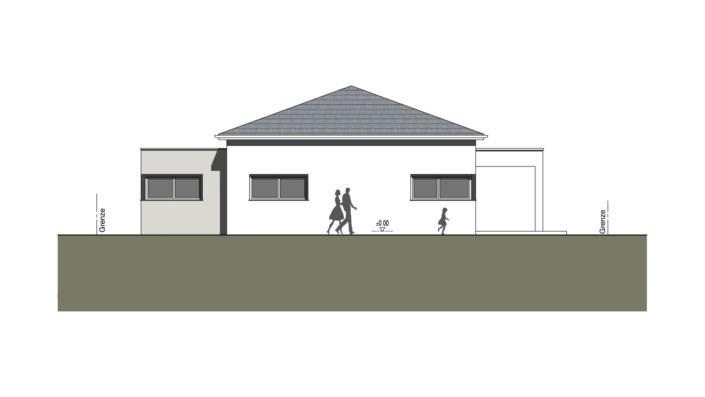 Einfamilienhaus mit 127 qm ohne Keller, Ansicht West
