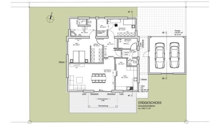 Einfamilienhaus mit 127 qm ohne Keller, Grundriss