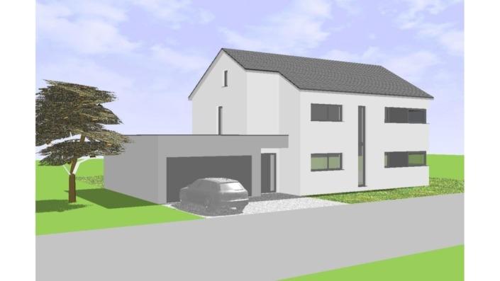 Einfamilienhaus mit 165 qm ohne Keller, Ansicht Nordost