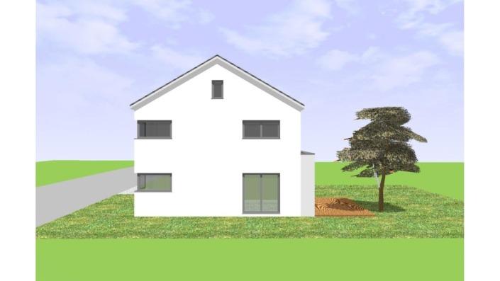 Einfamilienhaus mit 165 qm ohne Keller, Ansicht Nord