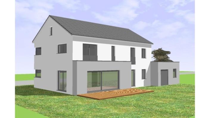 Einfamilienhaus mit 165 qm ohne Keller, Ansicht West